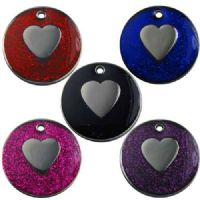 Heart Glitter Pet Tag